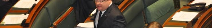 Intervention en plénière de la Chambre sur le budget 2012 …