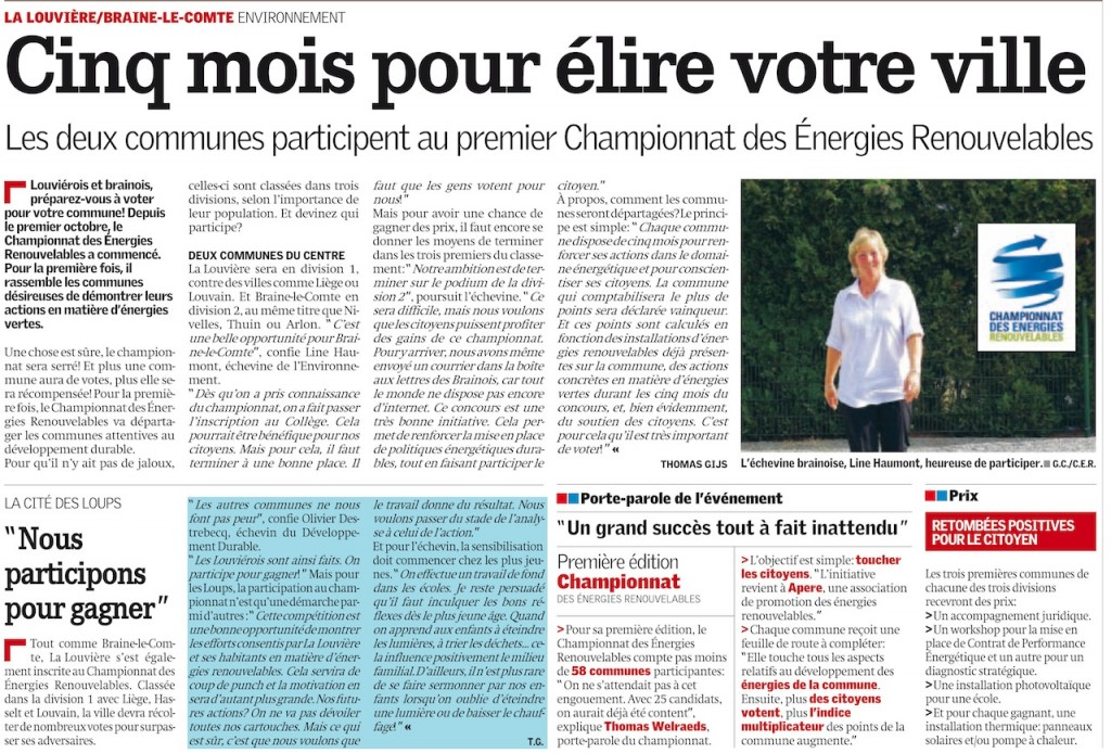 Article Nouvelle Gazette 29-11-2011